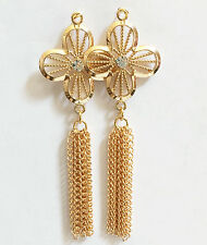 2 pcs Gold plated brass Tassel Chain pendant, tassel Fringes made in USA
