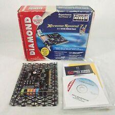 Diamond Xtreme Sound 7.1 24 PC Computer Sound Card w original box software A3
