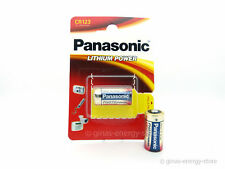 1x PANASONIC CR123A Foto-Batterie CR123 CR 123 123A NEU