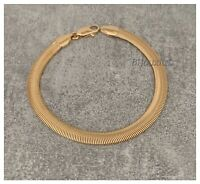 Bracelet Maille Serpent Souple Plaqué Or 18 carats 20CM Bijoux Femme