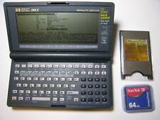 Vintage HP 200LX Palmtop PC  2 MB RAM Manuals, 64MB & PCMCIA adapter
