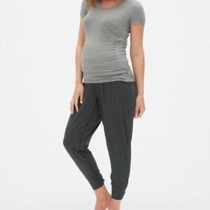 Gap Maternity Modal Sleep Pants Size S- Charcoal Heather- NWT
