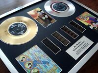"THE BEATLES YELLOW SUBMARINE 7"" GOLD PLATINUM DISC RECORD FILM CELL MONTAGE"