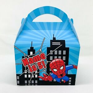 Spider Man Spiderman Marvel Children's Personalised Party Boxes Favours Gift Bag