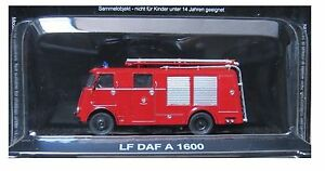 "Die Cast "" Lf DAF IN 1600 "" Firefighters of Fire Truck Scale 1/72"