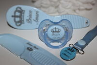 PERSONALISED SOOTHER  AVENT, BABY HAIR BRUSH, BABY GIFT, *CAN BE STERILISED*