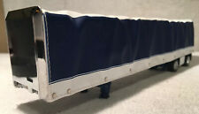 1/64 DCP FIRST GEAR BLUE & WHITE UTILITY CURTAIN SIDE TRAILER (CURTAIN SLIDES)