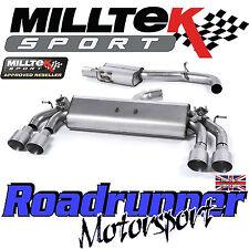 """Milltek Audi S3 8v 3-Door Exhaust 3"""" Cat Back Resonated Titanium GT SSXAU399 EC"""