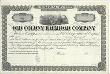 OLD COLONY RAILROAD COMPANY.....UNISSUED BOND DUE 1891
