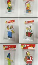 New Lot Of 6 Vintage  Simpsons Christmas Window Clings