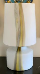 Mid Century Modern Missoni Inspired Murano Art Glass Table Lamp with Glass Shade