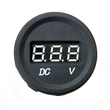 DC 12V-24V Motorcycle LED Digital Display Volt Voltage Meter Round Panel HY