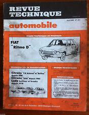 RTA du 4/1982; Fiat Ritmo D/ Citroen GSA Spécial 1300