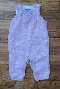 Jacadi Paris Baby Girl Long Jumpsuit Bodysuit 6 Months