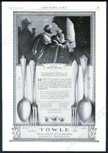 1923 Towle sterling silver D'Orleans Virginia Carvel La Fayette vintage print ad