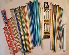 Over 60PC lot Vintage Knitting Needles Crochet Hooks Boye Bernat Zephyr Lion