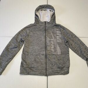 Youth | NIKE DRI FIT Hoodie | XL | GRAY | Hooded FULL Zip Sweatshirt | Pockets