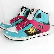 DC Skater Shoes 90's Womens Sz 11 Rebound High SE Multicolor Zebra Stripe 320028