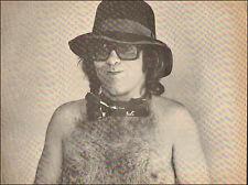 1971-Elton, John`Singer, Vintage Magazine Photo` 2-pgs. Hat, bow tie- (022215)