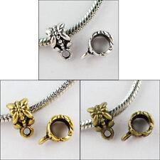 100pcs Silver,Gold,Bronze Charm Bail Connector Bead Fit Bracelet 327