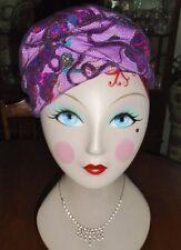 Vintage 1950s 60s Turban Hat Tulle Metallic Sparkles Amy New York O'Neil'S