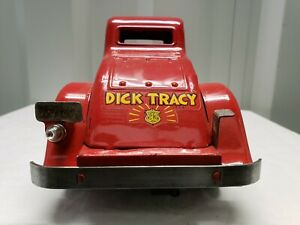 Antique Marx Pressed Steel Lighted Car with wind up drive  (circa 1930s)