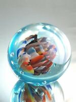 M Design Art Rainbow Flower Art Cut Glass Paperweight