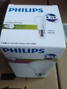 PHILIPS 577714 - Ampoule E27 CorePro Ledbulb A60 7,5w-60W 3000k lot de 8