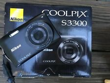 Nikon Coolpix S3300 16.0mp Digital Camera - Black Opened box 6x Zoom