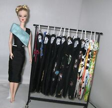 handmade OOAK silk dress to fit Silkstone Barbie doll