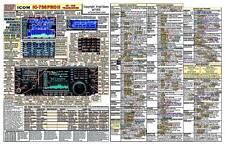 ICOM IC-756PROII AMATEUR HAM RADIO DATACHART EXTRA LARGE GRAPHIC INFORMATION