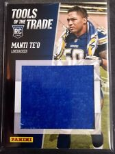 2013 Panini National Tools Of The Trade Manti Te'o San Diego Chargers Notre Dame
