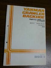 YANMAR B50-1 Excavator  Parts Manual