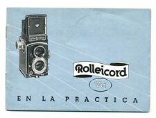 Rolleicord Va libretto di istruzioni in spagnolo E382