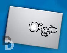 Yoshi Farting Macbook decal, Macbook stencil sticker, Cartoon decals