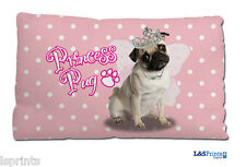 "CUTE PRINCESS PUG SMALL CUSHION IDEAL GIFT CAR TRAVEL ACCESSORY 11"" X 9"""