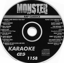 Monster Hits Karaoke 1158,Run D M C,Digital Underground,House Of Pain  CDG