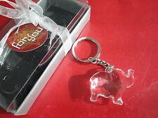 Crystal Plastic Elephant Keychain