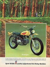 1972 Print Ad of AMF Harley Davidson Sprint SX350 On Off Road Motorcycle