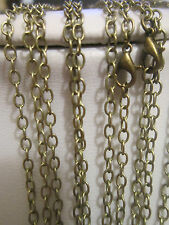 "5x 21"" Antique Bronze  Chain Necklaces with lobster clasp jewellery making"