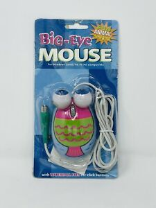 Rare Vintage 2002 Big Eye Fish Animal Computer Mouse - PS/2 Port Connector NEW