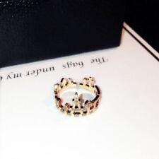 18K Rose Gold Plated Crown Adjustable Ring