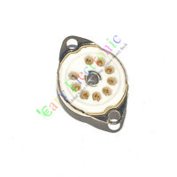 4pc 9pin GOLD Ceramic vacuum tube socket for 12AX7 12AU7 ECC83 ECC82 6DJ8 amps