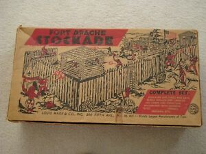 Marx 3612 Fort Apache Stockade Play Set / Original Box ( Box Only )