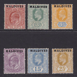 Maldives. 1906. SG 1-6, 2c to 25c. Fine mounted mint. Cat £300.