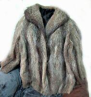 abrigo para mujer de piel de zorro 100%