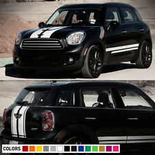 Decal Vinyl Hood Side Trunk Stripe Kit For Mini Countryman Cooper ALL4 R60 Light