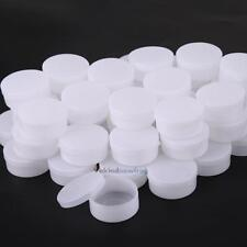 50 Pieces White Plastic Cosmetic Sample Container 10 Grams Jars Pot Small Empty
