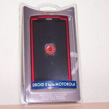 Motorola Droid X Soft Touch Snap-on Hard Cover Case Red Rocketfish RF-
