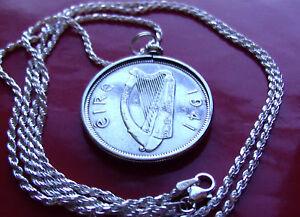 "1941 IRELAND SILVER HORSE <> PENDANT 24"" .925/1000 Pure Silver Rope Chain."